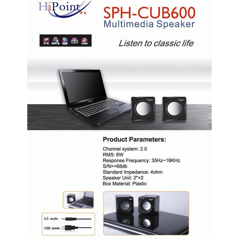 HiPoint Mini CubeUSB 2.0 Speakers