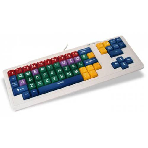 Childrens Keyboard Coloured Uppercase