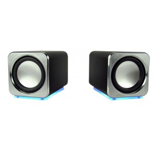 HiPoint USB Mini Speakers Black ( Built In Sound Card)
