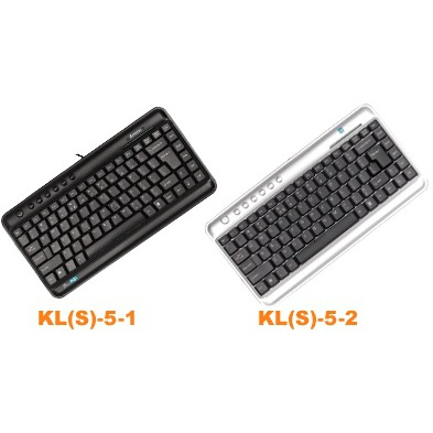A4 Tech Space Saver Compact Keyboard Siver or Black