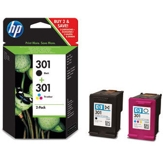 HP INK 301 Combo Pack Black/Colour