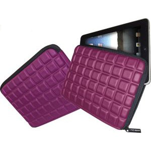 Ipad/Tablet PC Padded Sleeve Purple Case