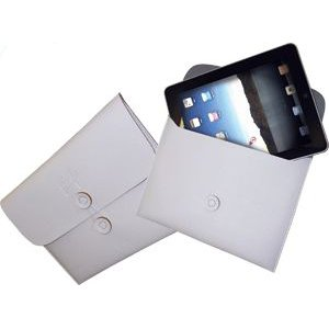 Ipad/Tablet PC Leather Case White