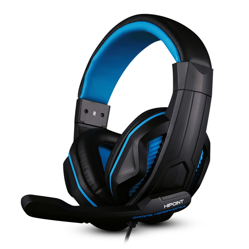 HiPoint X2 Gaming Headphones for PS4 & PCs - Blue/Red