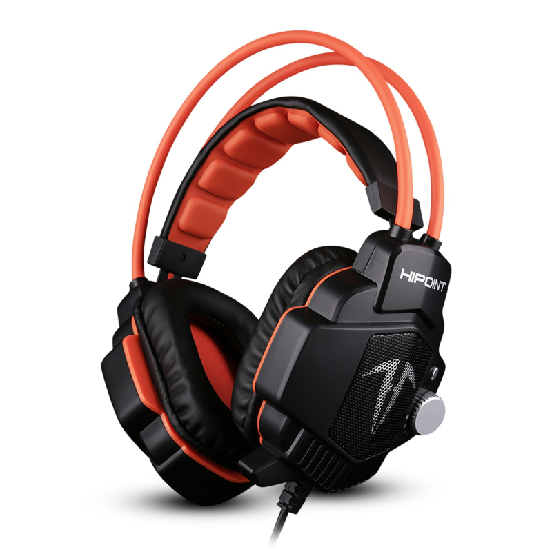 HiPoint X90 Gaming Headphones for PS4 & PCs - Orange / Blue