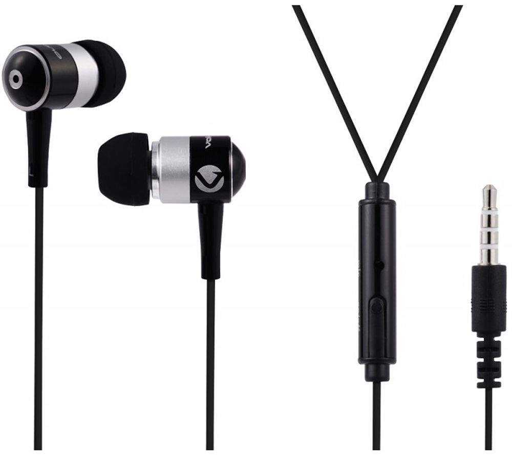 Volkano Black Stannic Series Earphones