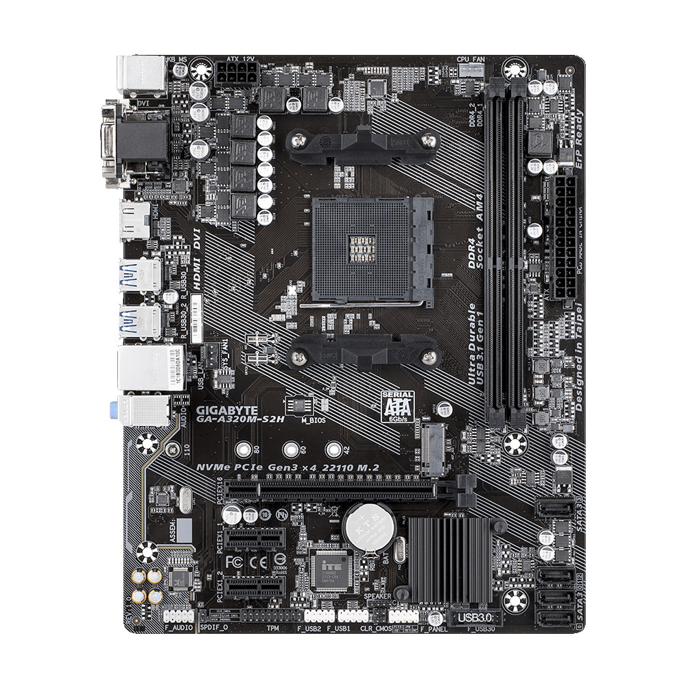 Gigabyte GA-A320M-S2H AMD Socket AM4