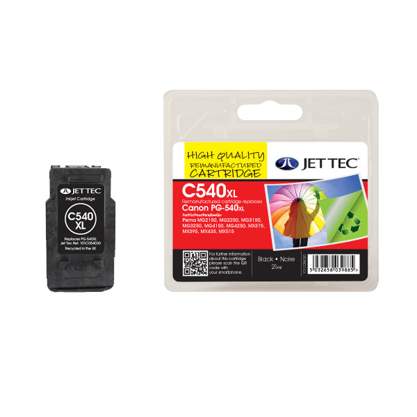 Jettec Canon C540XL Black Ink