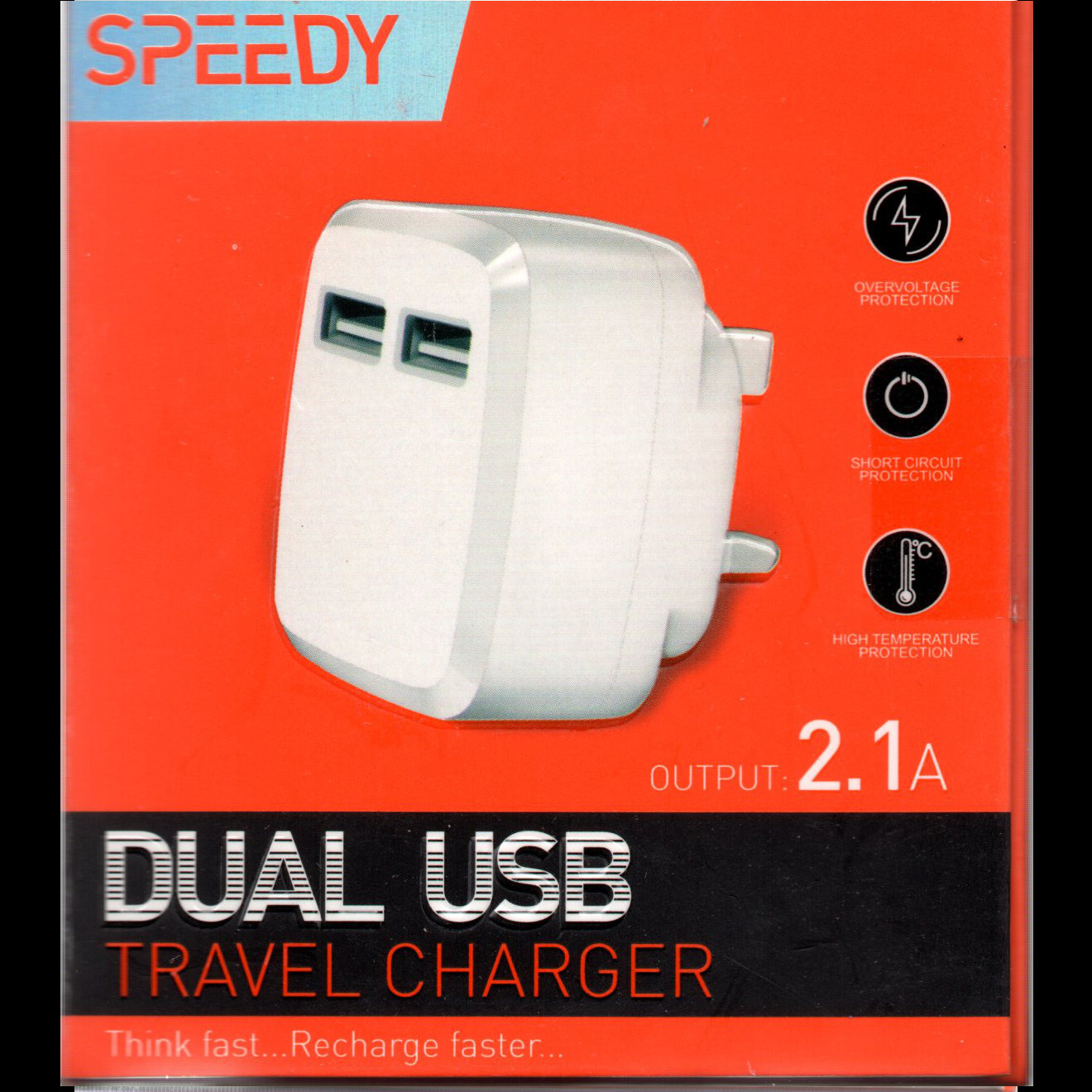 SPEEDY  Dual USB Charger 2.1A