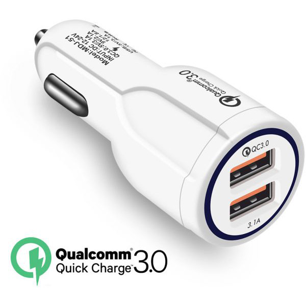 Quallcomm Quick Charge 3.0 Dual Car Charger