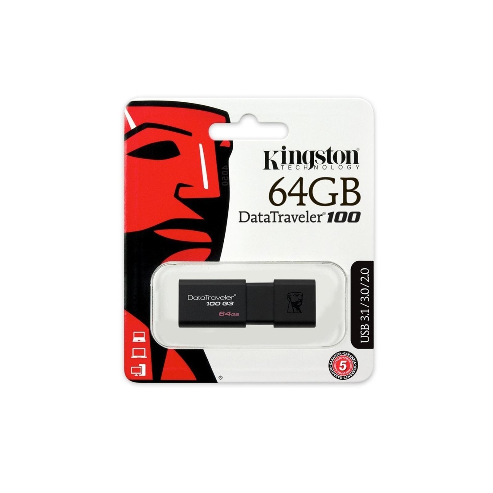 Kingston DataTraveler 100 64GB USB 3.0  USB Drive