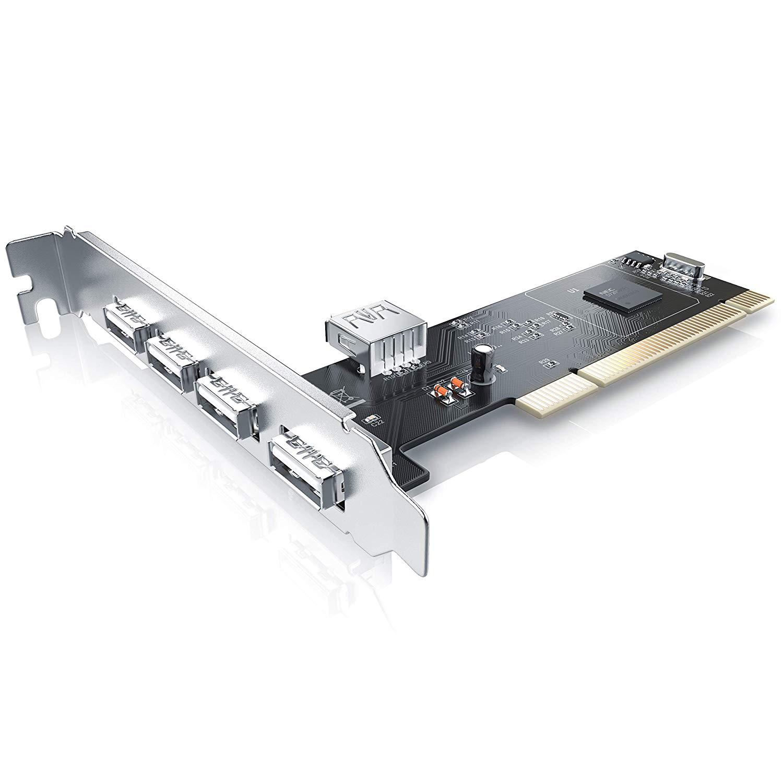 CSL  4+1 Port (5 Port) USB 2.0 PCI Card
