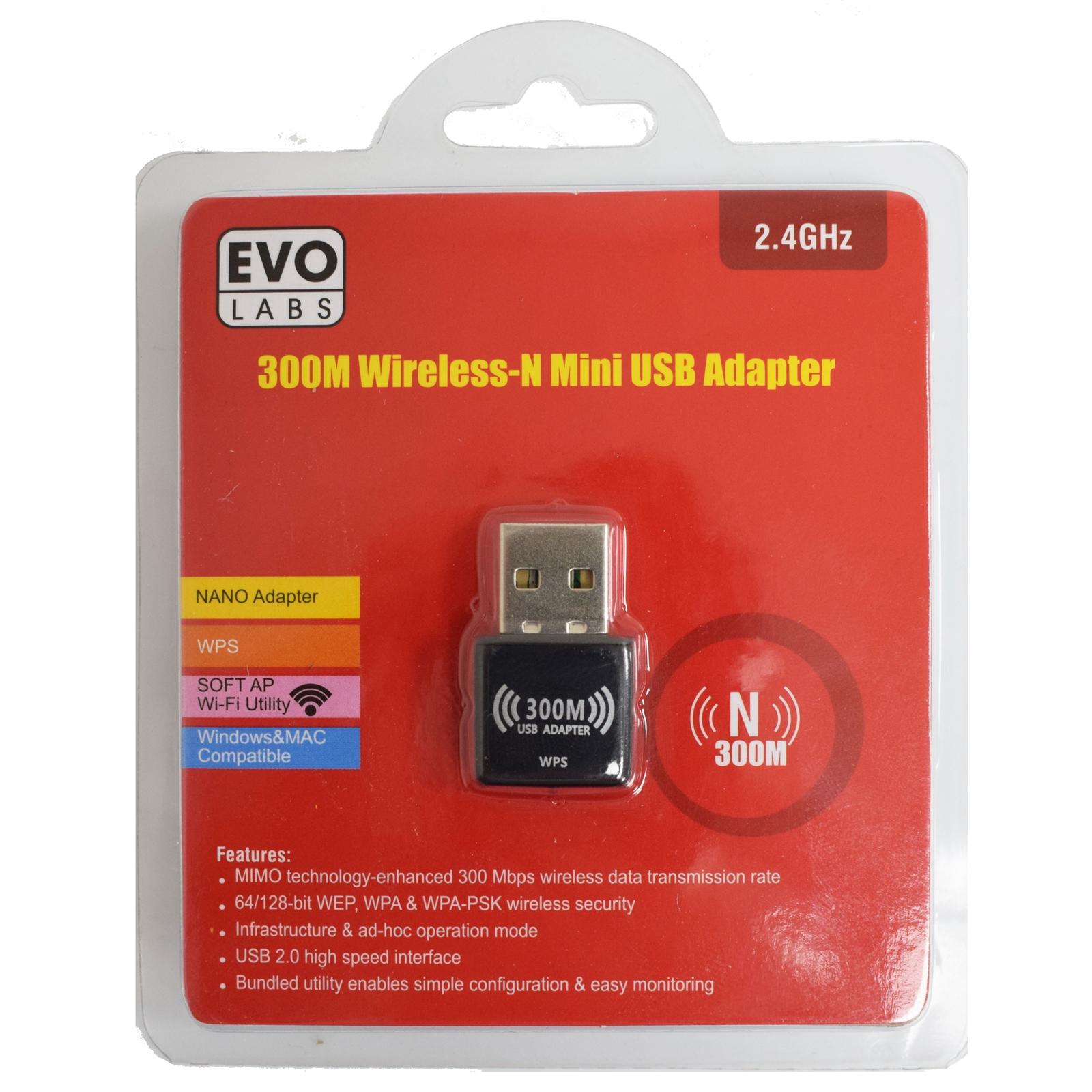 Evo Labs 300Mb Wireless -N Usb Adapter
